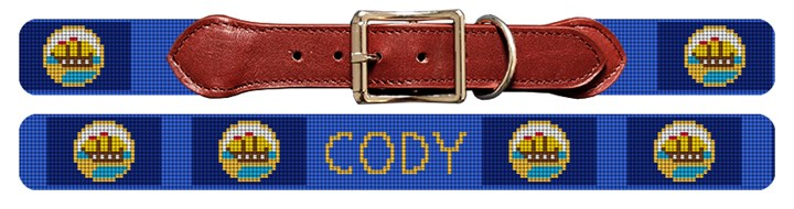 New Hampshire Flag Needlepoint Dog Collar