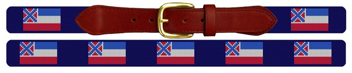 Mississippi Needlepoint Belt