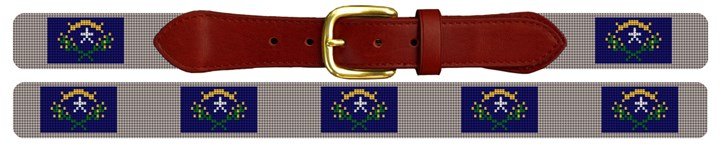 Nevada Flag Needlepoint Belt
