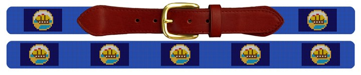 New Hampshire Flag Needlepoint Belt