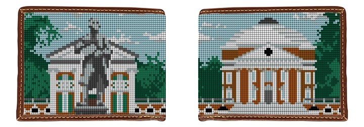 University of Virginia Needlepoint Wallet