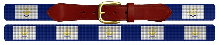 Rhode Island Flag Needlepoint Belt