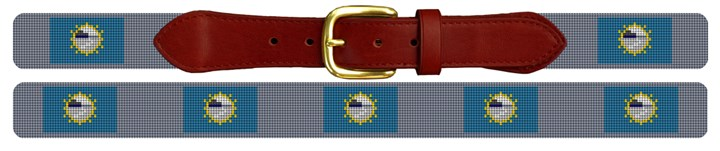 South Dakota Flag Needlepoint Belt