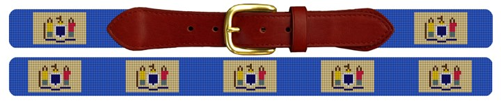 New Jersey Flag Needlepoint Belt