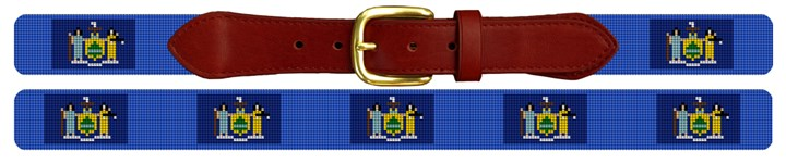 New York Flag Needlepoint Belt
