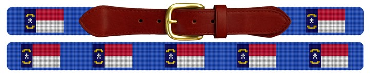 North Carolina Flag Needlepoint Belt