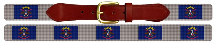 North Dakota Flag Needlepoint Belt