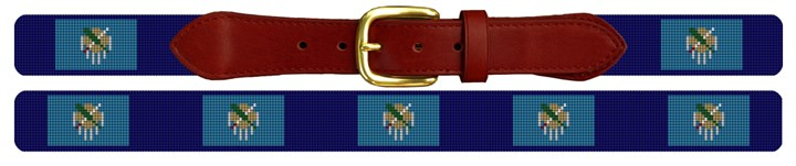 Oklahoma Flag Needlepoint Belt