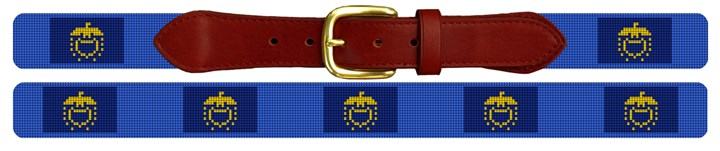 Oregon Flag Needlepoint Belt
