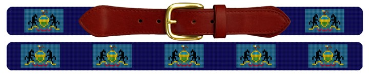 Pennsylvania Flag Needlepoint Belt