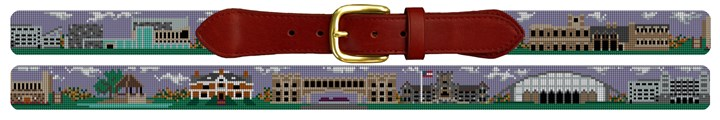 Virginia Tech Campus Needlepoint Belt