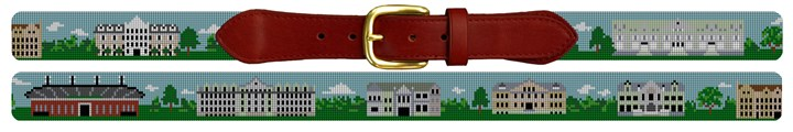 Tulane University Campus Needlepoint Belt