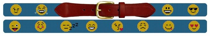 Emojis Needlepoint Belt