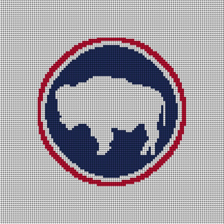 Wyoming Buffalo Needlepoint Ornament Canvas