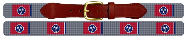 Tennessee Flag Needlepoint Belt