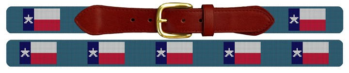Texas Flag Needlepoint Belt