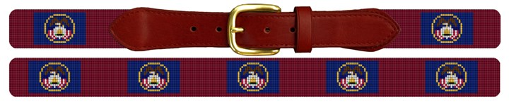 Utah Flag Needlepoint Belt