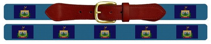 Vermont Flag Needlepoint Belt