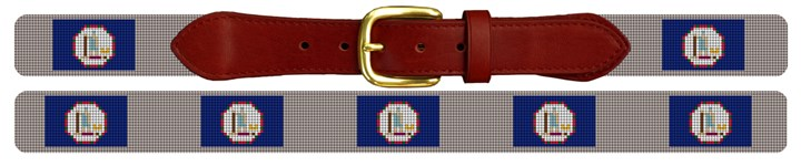 Virginia Flag Needlepoint Belt