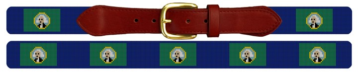 Washington Flag Needlepoint Belt