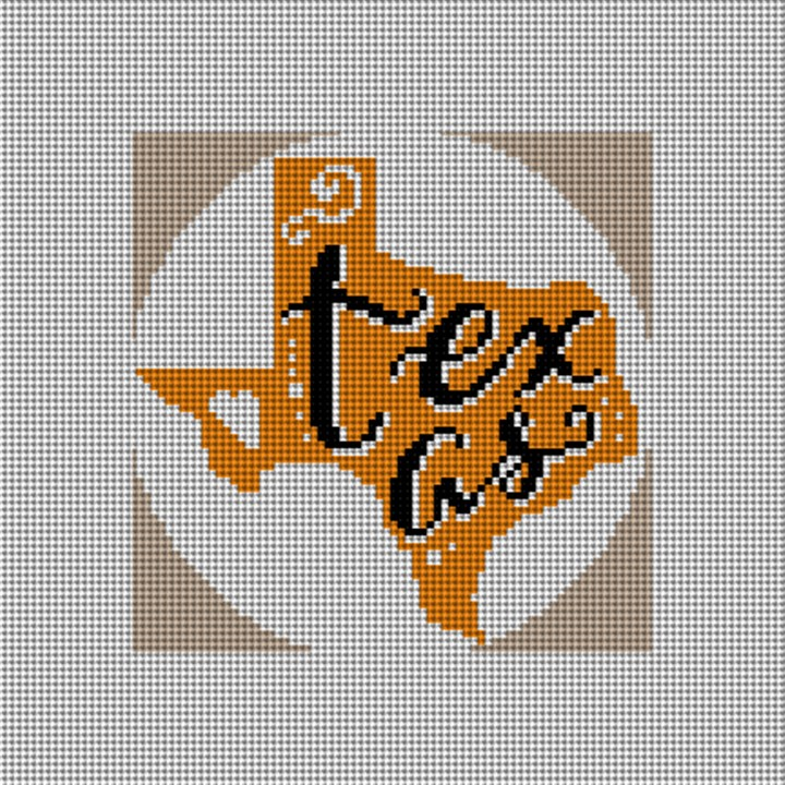 Texas Needlepoint Christmas Ornament Canvas