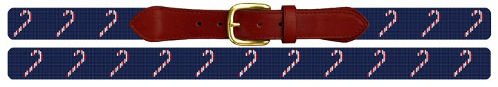 Christmas Candy Cane Needlepoint Belt