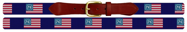 Spirit of 76 Needlepoint Belt