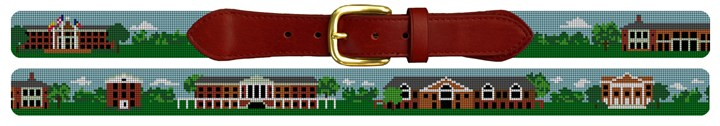 Elon University Campus Needlepoint Belt