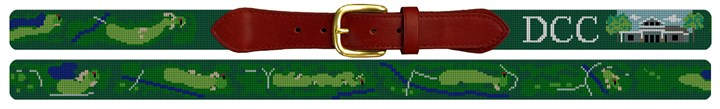 Denver Country Club Golf Course Needlepoint Belt