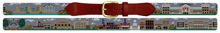 University of Wisconsin Campus Needlepoint Belt