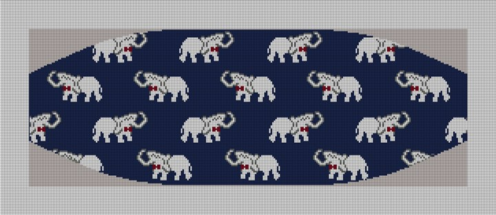 Elephant Cummerbund Needlepoint Canvas