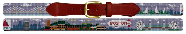 Boston Landscape Needlepoint Belt