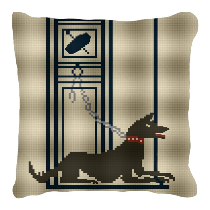 Pompeii Mosaic Guard Dog Needlepoint Pillow
