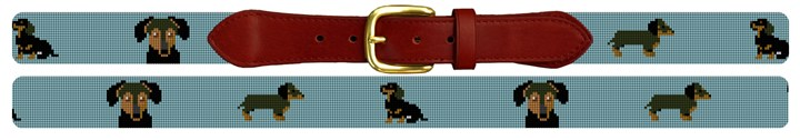 Dachshund Needlepoint Belt
