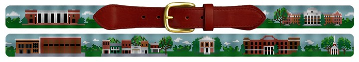 Davidson College Campus Needlepoint Belt