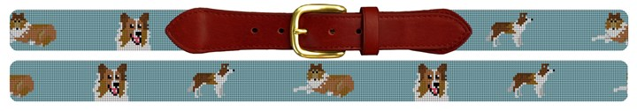 Collie Needlepoint Belt
