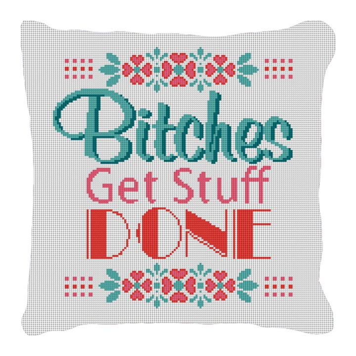 Preppy Ideas Needlepoint Pillow