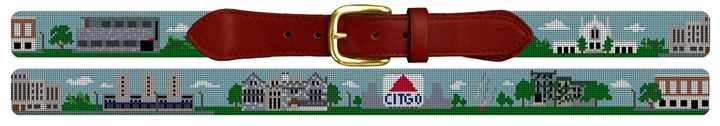 Boston University Campus Needlepoint Belt