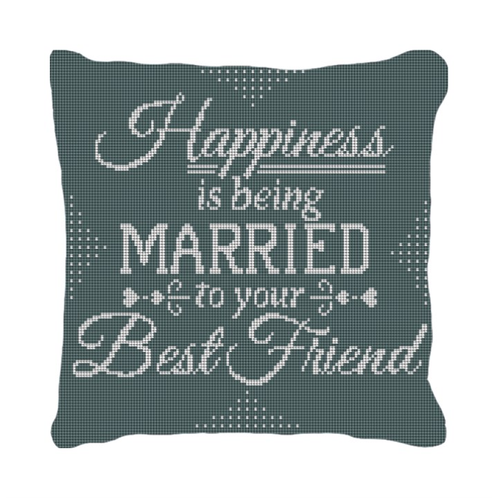 Happiness Needlepoint Pillow