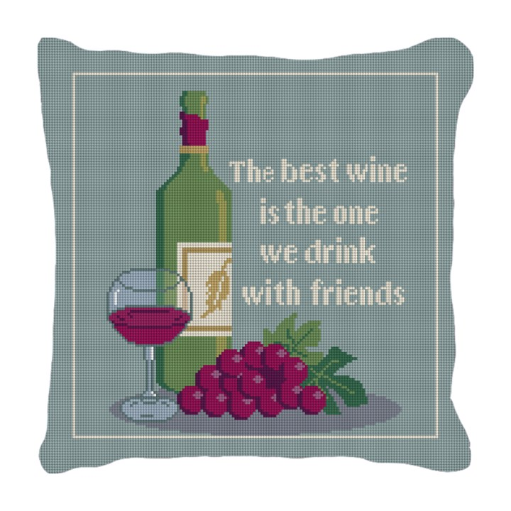 The Best Wine Needlepoint Pillow
