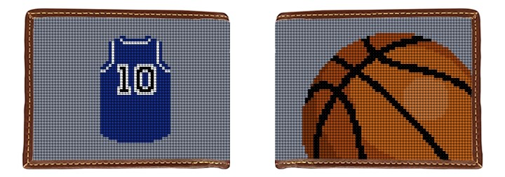 Basketball Needlepoint Wallet