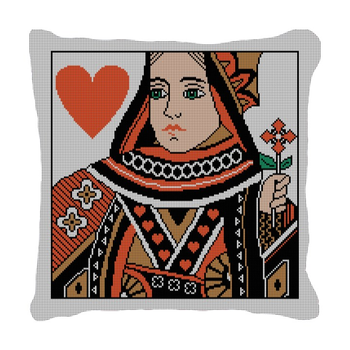 Queen of Hearts Needlepoint Pillow