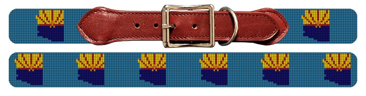 Arizona State Needlepoint Dog Collar