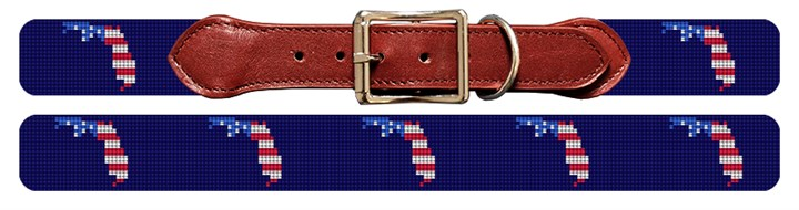 Florida State Needlepoint Dog Collar