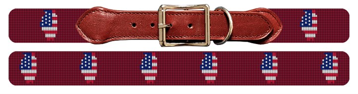 Illinois State Needlepoint Dog Collar