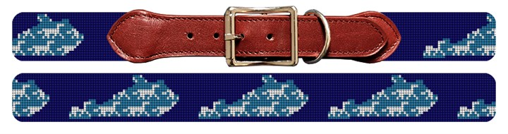 Kentucky State Needlepoint Dog Collar