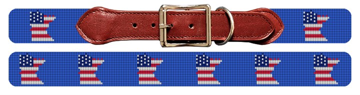 Minnesota State Needlepoint Dog Collar
