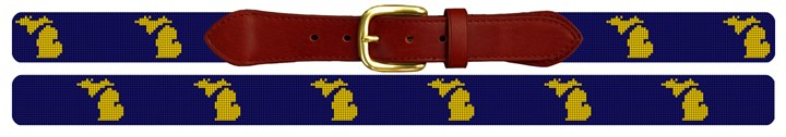 Michigan State Needlepoint Belt