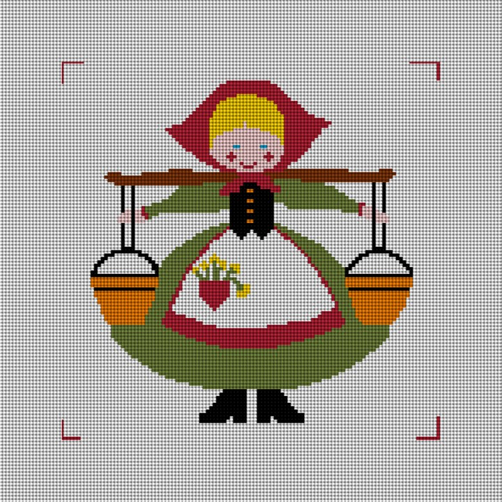 Eight Maids A-Milking Needlepoint Canvas