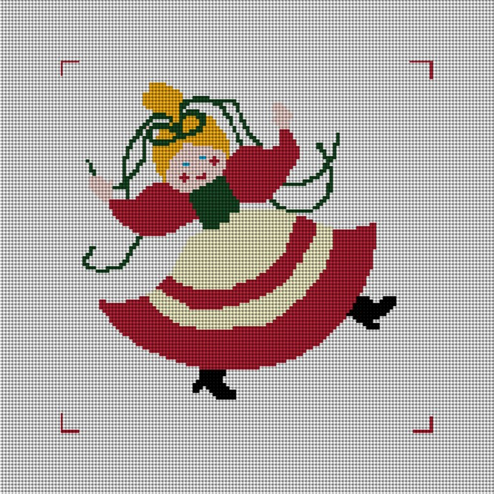 Nine Ladies Dancing Needlepoint Canvas